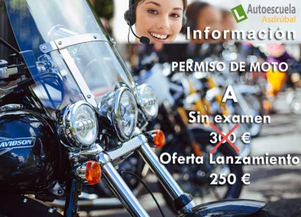 Ofertón Permiso Moto A 250€